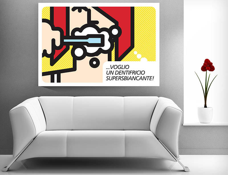 quadro pop art dentista