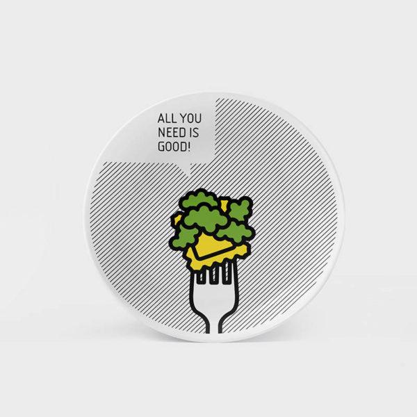 piatto fork broccoletti