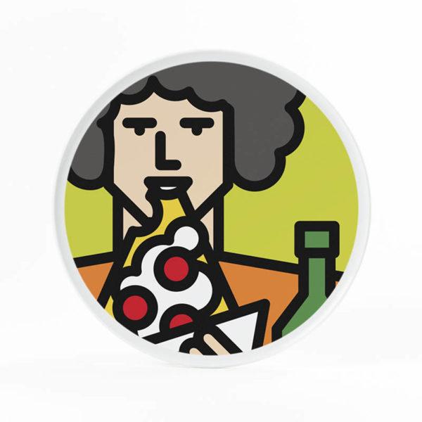 piatto pizza ragazzo