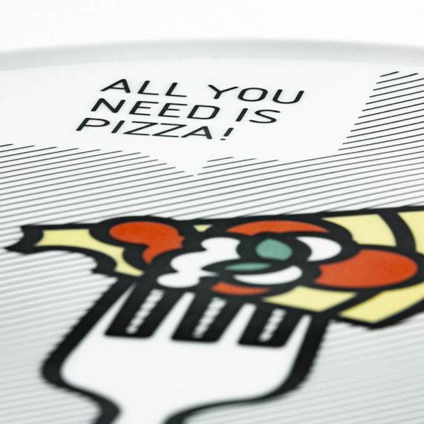 piatto trancio pizza dettaglio