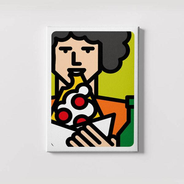 ragazzo che mangia pizza