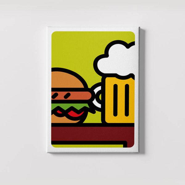 sandwich e birra