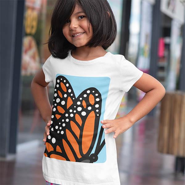 t shirt farfalla