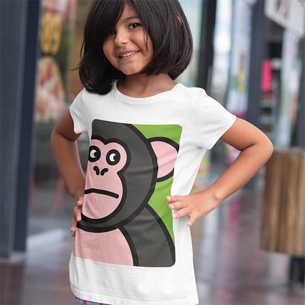 t shirt scimmia